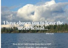 Leaving the world behind
