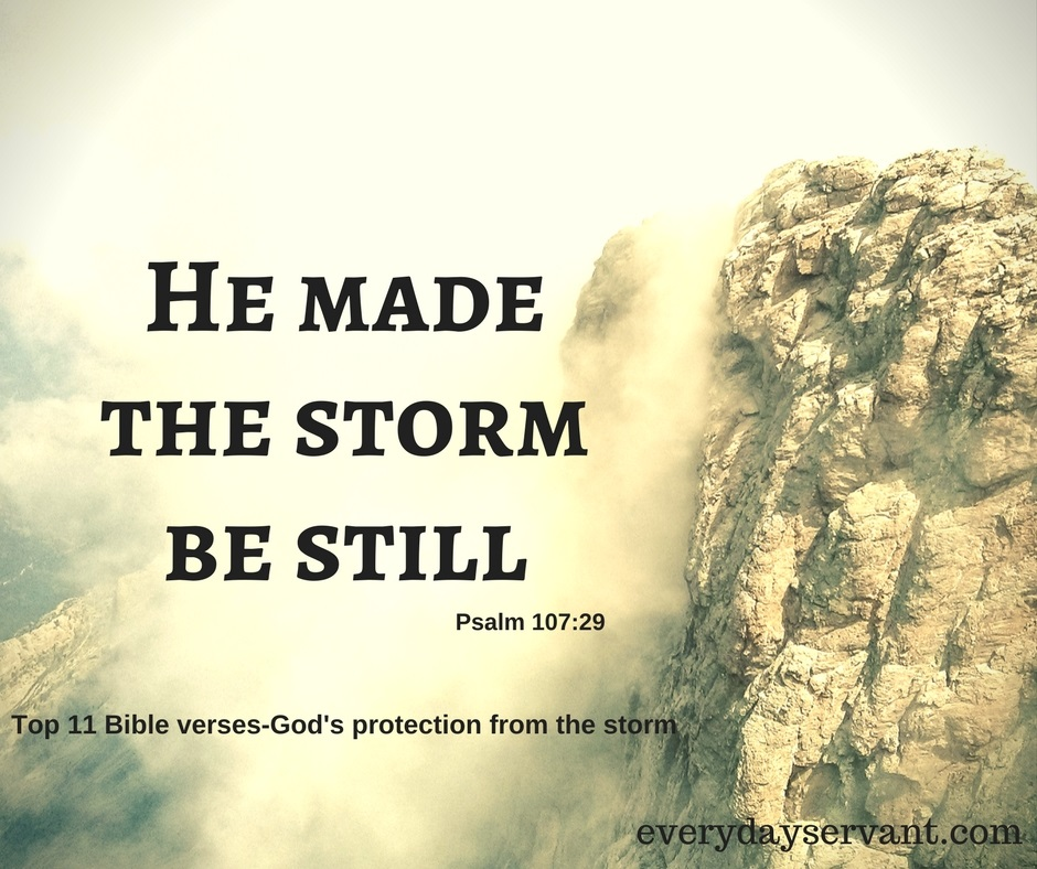 Top 11 Bible Verses-Gods Protection from the storm