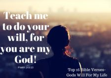 Top 16 Bible Verses-Gods will for my life