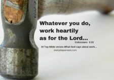 top 19 bible verses-What God says about work