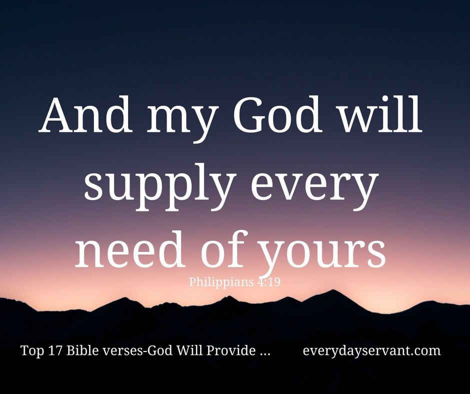 Top 17 Bible Verses-God will provide