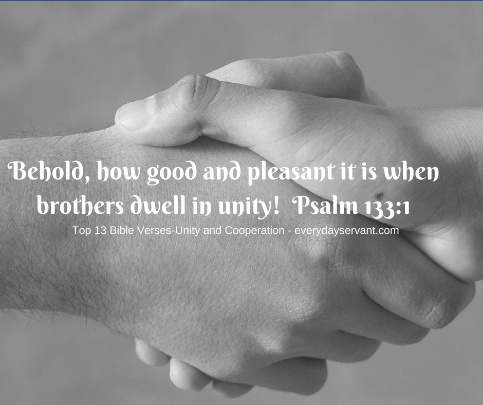 Top 13 Bible verses-Unity and cooperation