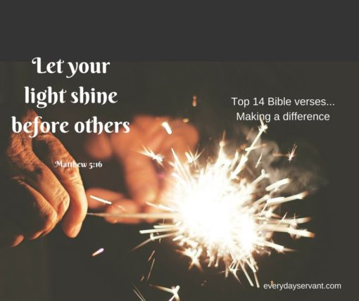 Top 14 Bible Verses-Making a Difference